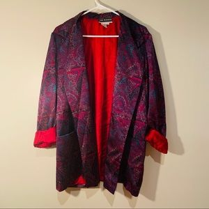 Vintage Silk Paisley Smoking Jacket